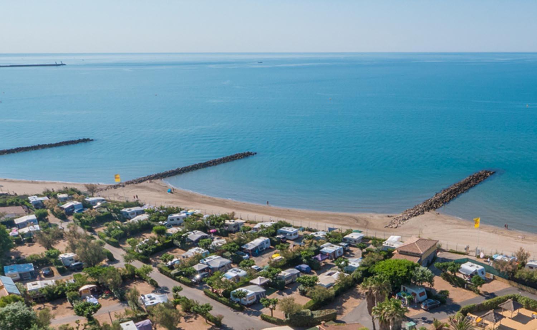 Vias plage et camping Farret vue du ciel