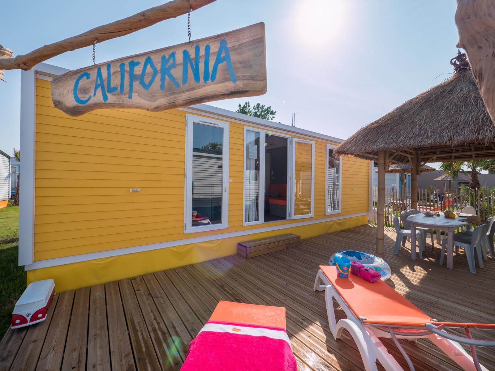 Quartier de camping ambiance californienne