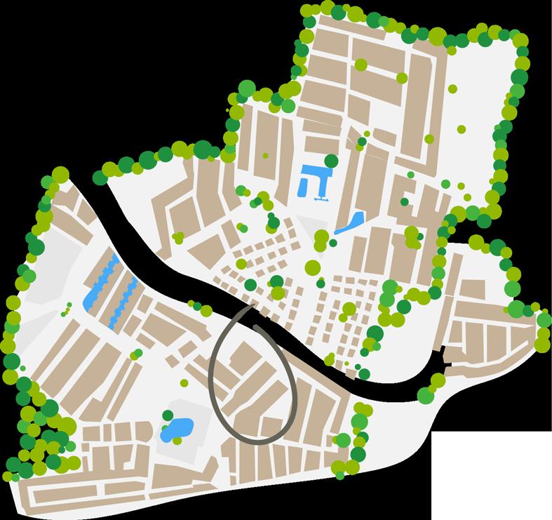 plano del barrio bali camping farret a vias