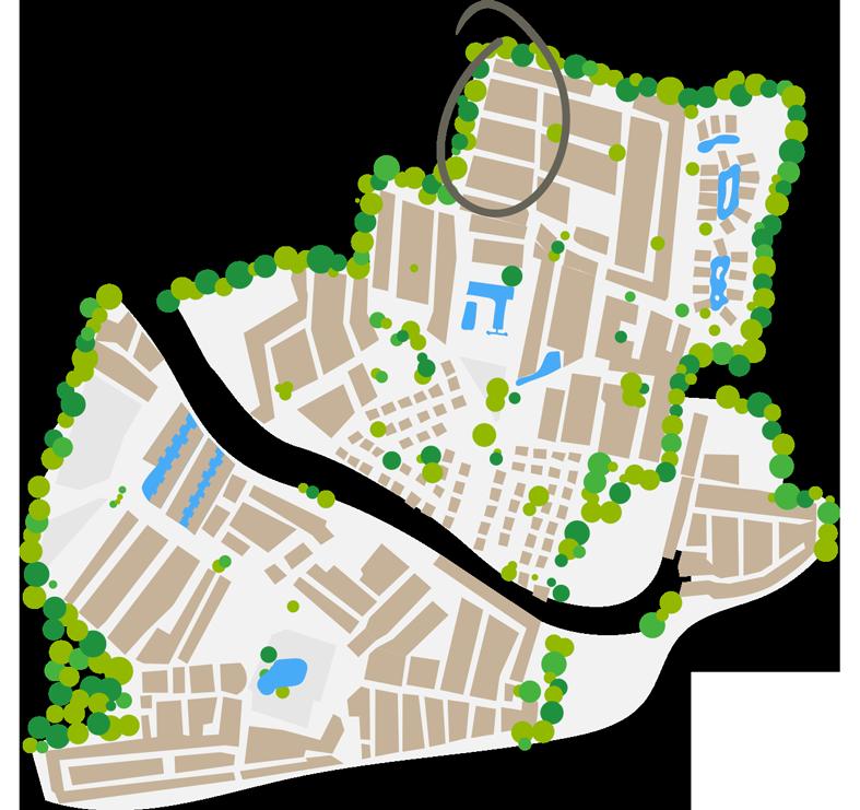 Plano del barrio Chardonnay
