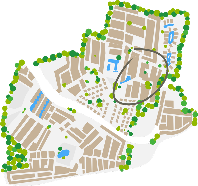 Plano del barrio Pirates