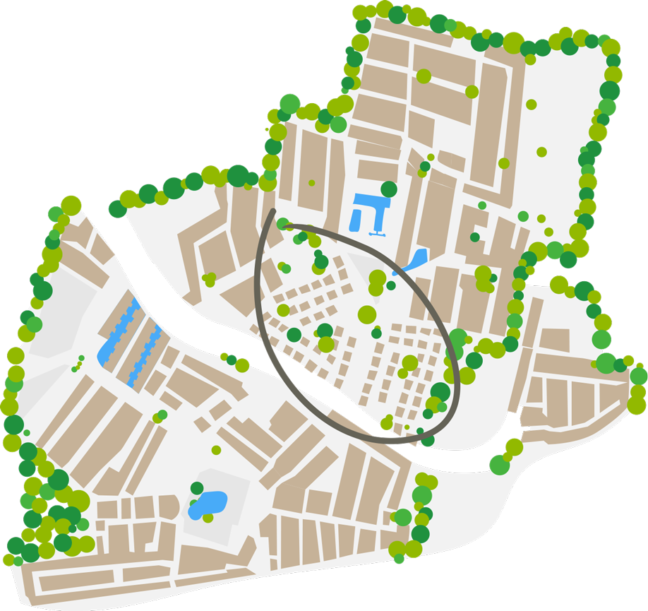 Plano del barrio Maisons vacances