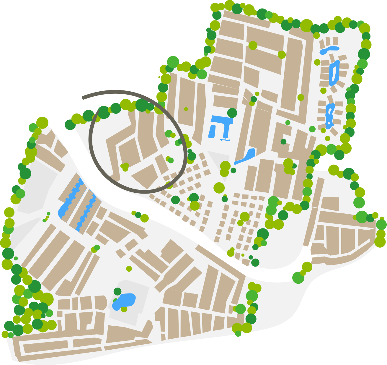 Map Santa Fé area