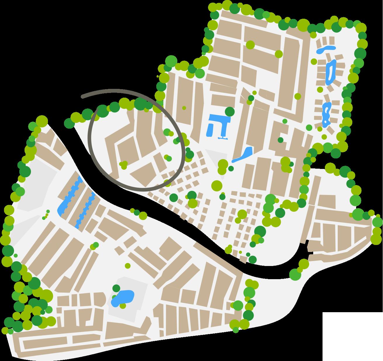 Mappa dell'area Santa Fé